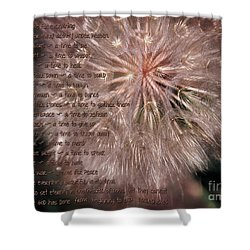 Ecclesiastes Seasons Shower Curtain by Constance Woods