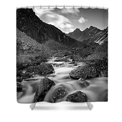 Echo Shower Curtain by Ed Boudreau