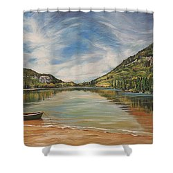 Echo Lake In Franconia Notch New Hampshire Shower Curtain