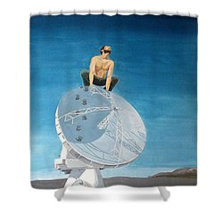 Shower Curtain featuring the painting Echoes by Lazaro Hurtado