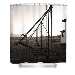 Shower Curtain featuring the photograph Echoes Of Laughter by Jim Garrison