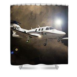 Eclipse Landing Shower Curtain