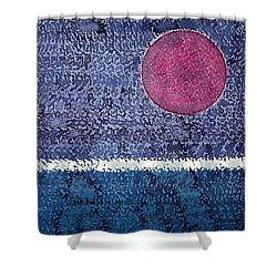 Eclipse Original Painting Shower Curtain by Sol Luckman