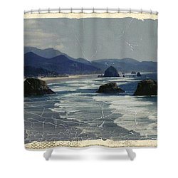 Ecola Sea Stacks Shower Curtain
