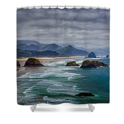 Ecola Viewpoint Shower Curtain by Rick Berk