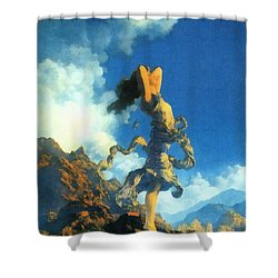 Ecstasy Shower Curtain by Maxfield Parrish