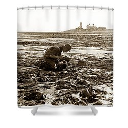 Ed Ricketts At Point Wilson Lighthouse In Port Townsend Wa 1930 Shower Curtain