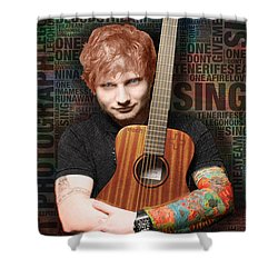 Ed Sheeran And Song Titles Shower Curtain by Tony Rubino
