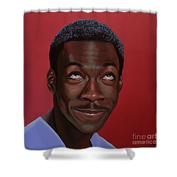 Eddie Murphy Painting Shower Curtain by Paul Meijering