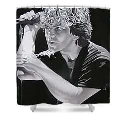 Eddie Vedder Black And White Shower Curtain