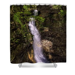 Eden Falls Lost Valley Buffalo National River Shower Curtain by Michael Dougherty