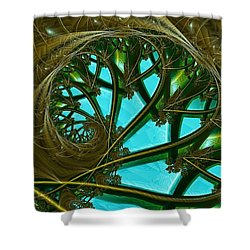 Eden Shower Curtain by Lena Auxier