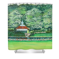 Eden Park  Cincinnati Ohio Shower Curtain by Diane Pape