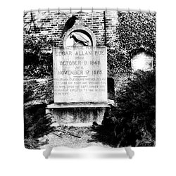 Edgar Allen Poe Grave Site Baltimore Shower Curtain by Bill Cannon