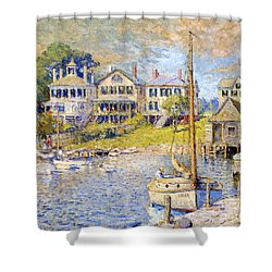 Edgartown  Martha's Vineyard Shower Curtain by Colin Campbell Cooper