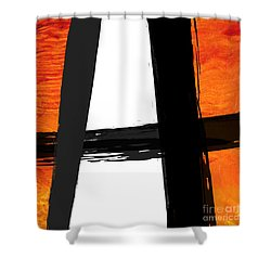 Shower Curtain featuring the painting Edge II by Paul Davenport