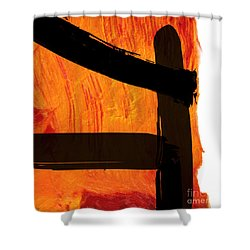 Shower Curtain featuring the painting Edge IIi by Paul Davenport