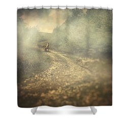 Edge Of The World Shower Curtain by Taylan Apukovska
