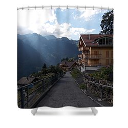 Edge Of Wengen Shower Curtain