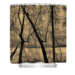 Edge Of Winter Shower Curtain by Bob Orsillo