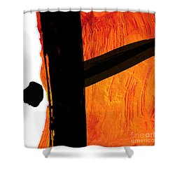 Shower Curtain featuring the painting Edge by Paul Davenport