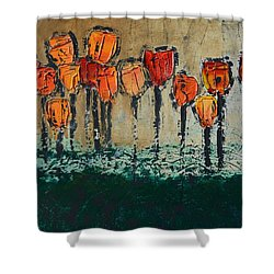 Edgey Tulips Shower Curtain