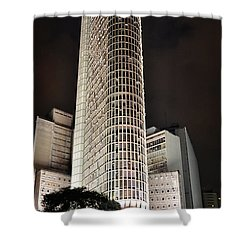 Edificio Italia By Night Shower Curtain
