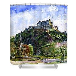 Edinburgh Castle Scotland Shower Curtain by John D Benson