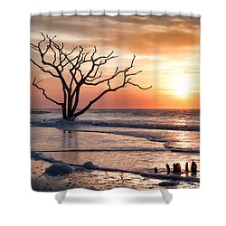 Edisto Sunrise Shower Curtain by Curtis Cabana