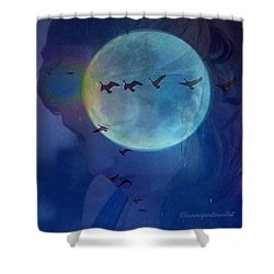 Edit To The Poem Oh Moon Shower Curtain