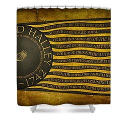 Edmond Halley Memorial Shower Curtain by Stephen Stookey