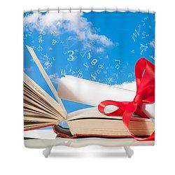 Education Shower Curtain by Amanda Elwell