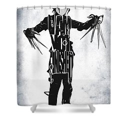 Edward Scissorhands - Johnny Depp Shower Curtain by Ayse Deniz