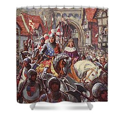 Edward V Rides Into London With Duke Shower Curtain by Charles John de Lacy