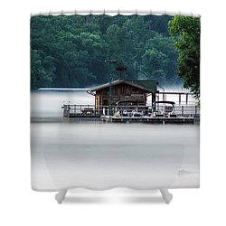 Shower Curtain featuring the photograph Eerie Day by Elaine Malott