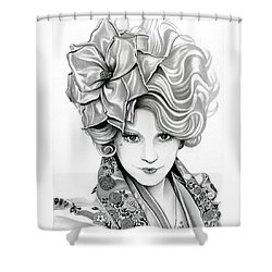 Effie Trinket - The Hunger Games Shower Curtain by Fred Larucci