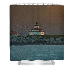 Egg Rock Island Lighthouse Shower Curtain by Sebastian Musial
