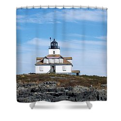 Egg Rock Lighthouse Shower Curtain