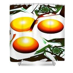Eggs For Breakfast Shower Curtain