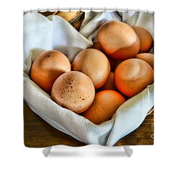 Eggs In A Basket Shower Curtain by Paul Ward