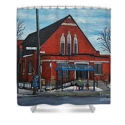 Eglise Baptiste Evangelique De La Grace De Verdun  Shower Curtain by Reb Frost