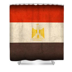 Egypt Flag Distressed Vintage Finish Shower Curtain by Design Turnpike