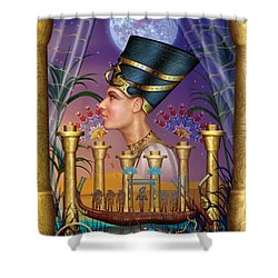 Egyptian Triptych Variant IIi Shower Curtain by Ciro Marchetti