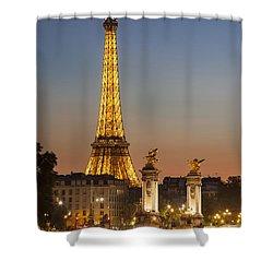 Eiffel At Twilight Shower Curtain