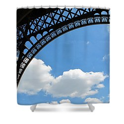 Eiffel Clouds Shower Curtain
