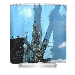 Eiffel Collage Shower Curtain