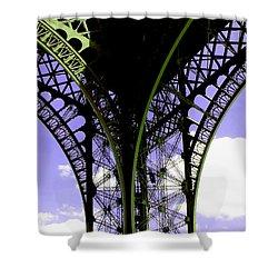 Eiffel Lace Shower Curtain