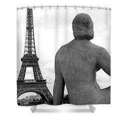 Shower Curtain featuring the photograph Eiffel Lady by Lisa Parrish
