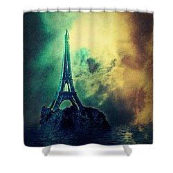 Eiffel Lighthouse Shower Curtain