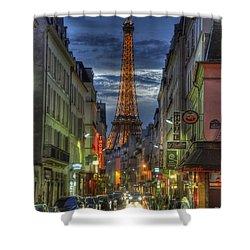 Eiffel Over Paris Shower Curtain